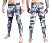 Scramble Dazzle Spats Black White