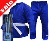 Adidas Club Judo Uniform Blue Black Stripes 350g