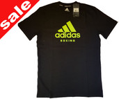 Adidas Black Yellow Boxing T Shirt Medium