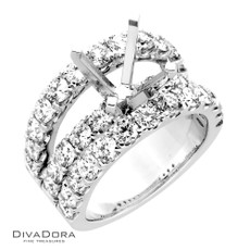 14 K DIAMOND BRIDGE ENG RING - RG19520