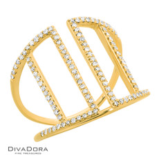 14 K DIAMOND RIBBON RING - RG19954