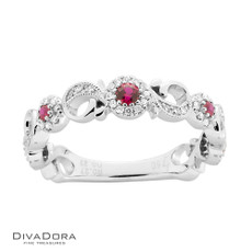 18 K RUBY & DIAMOND BAND - RG19939R