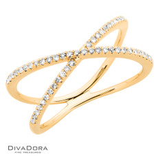 14 K DIAMOND RIBBON RING - RG19147