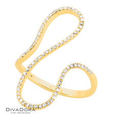 14 K DIAMOND RIBBON RING - RG18570