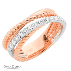18 K CRISS-CROSS RING - RG19139R