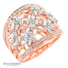 18 K ROSE CUT  DIA BAND - RG19941R