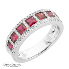 18 K RUBY & DIAMOND BAND - RG19937