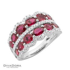 18 K RUBY & DIAMOND BAND - RG19938
