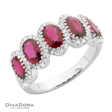 18 K RUBY & DIAMOND BAND - RG19463R