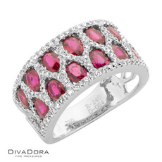 18 K RUBY & DIAMOND BAND - RG18339