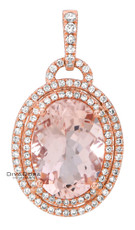 14 K MORGANITE PEND - PD16390