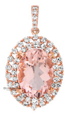 14 K MORGANITE PEND - PD16393