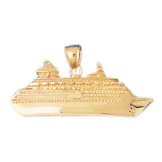Cruise Ship 14K Gold Charm - DZCH-1286