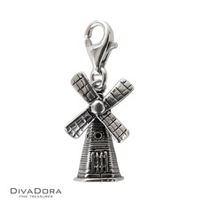 3-D Sterling Silver Windmill Charm 30101
