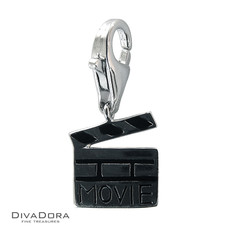 3-D Sterling Silver Movie Clip Board Charm 30114