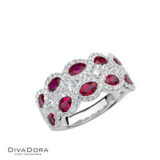 14 K RUBY & DIAMOND BAND - RG17124R