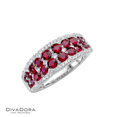 14 K RUBY & DIAMOND BAND - RG18720