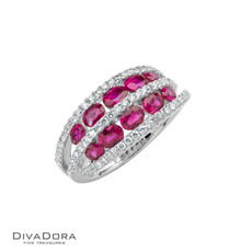 18 K RUBY & DIAMOND BAND - RG10726