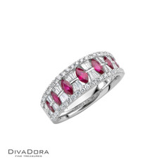 14 K RUBY & DIAMOND BAND - RG11262