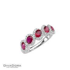 14 K RUBY & DIAMOND BAND - RG18030