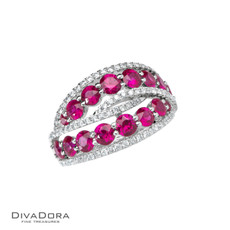 18 K RUBY & DIAMOND BAND - RG14565R