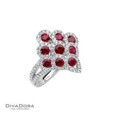14 K RUBY & DIAMOND RING - RG16866