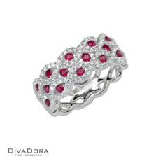 14 K RUBY & DIAMOND RING - RG17327