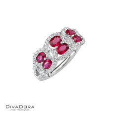 18 K RUBY & DIAMOND RING - RG17403