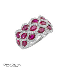 14 K RUBY & DIAMOND RING - RG17515