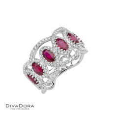 14 K RUBY & DIAMOND BAND - RG17674