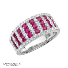 14 K RUBY & DIAMOND BAND - RG17840R