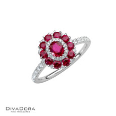 14 K RUBY & DIAMOND RING - RG17873