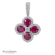 14 K RUBY & DIAMOND PENDANT - PD15522