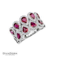 14 K RUBY & DIAMOND BAND - RG17686