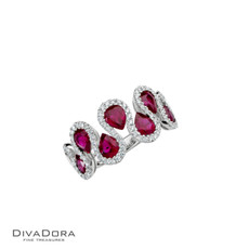 14 K RUBY & DIAMOND BAND - RG17694