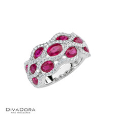 14 K RUBY & DIAMOND RING - RG17870