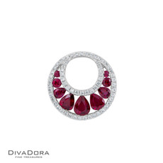 14 K RUBY & DIAMOND PENDANT - PD14841