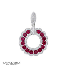 18 K RUBY & DIAMOND PENDANT - PD15864