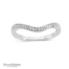 14 K CURVED PAVE BAND - RG16173