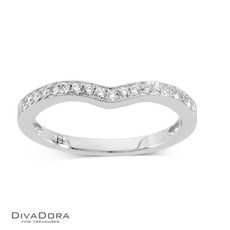 14 K CURVED PAVE BAND - RG10132
