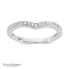 14 K CURVED PAVE BAND - RG10135
