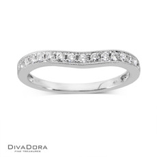14 K CURVED PAVE BAND - RG10175