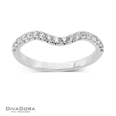 14 K  CURVED PRONG BAND - RG16154