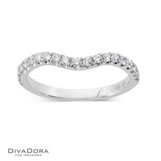 14 K CURVED PRONG BAND - RG16160