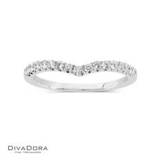 14 K CURVED PRONG BAND - RG16162