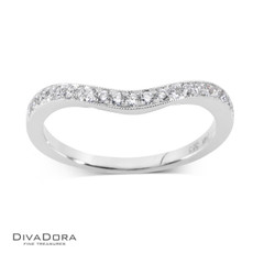 14 K CURVED PAVE BAND - RG16175