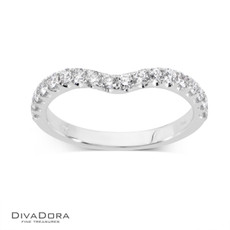 14 K CURVED PRONG BAND - RG17400