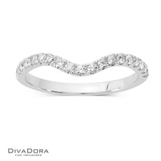 14 K CURVED PRONG BAND - RG17780