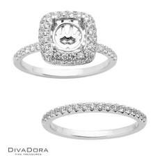 18  K DOMED HALO SET - RG15780