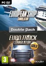 European Ship Simulator and Euro Truck Gold (PC DVD) product image
